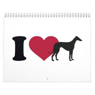 I love Greyhounds Calendar