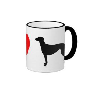I Love Greyhounds Coffee Mug