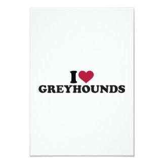"I love Greyhounds 3.5"" X 5"" Invitation Card"