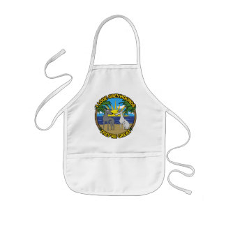 I LOVE GREYHOUNDS THEY'RE GREAT KIDS' APRON