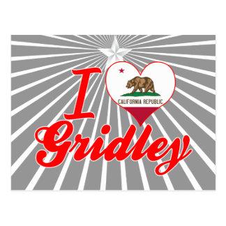 I Love Gridley California Postcards