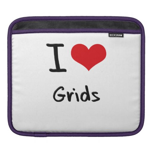 I Love Grids Sleeves For iPads