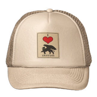 I Love Griffons Trucker Hat