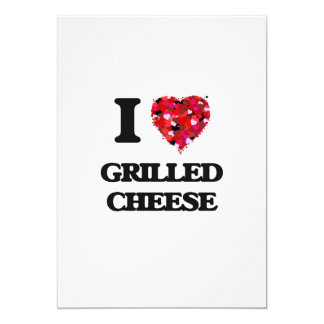 I love Grilled Cheese 5x7 Paper Invitation Card