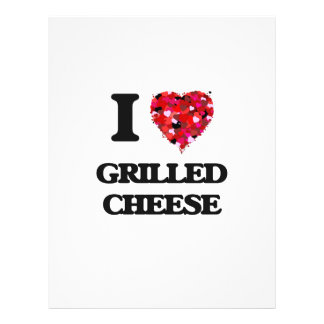 """I love Grilled Cheese 8.5"""" X 11"""" Flyer"""