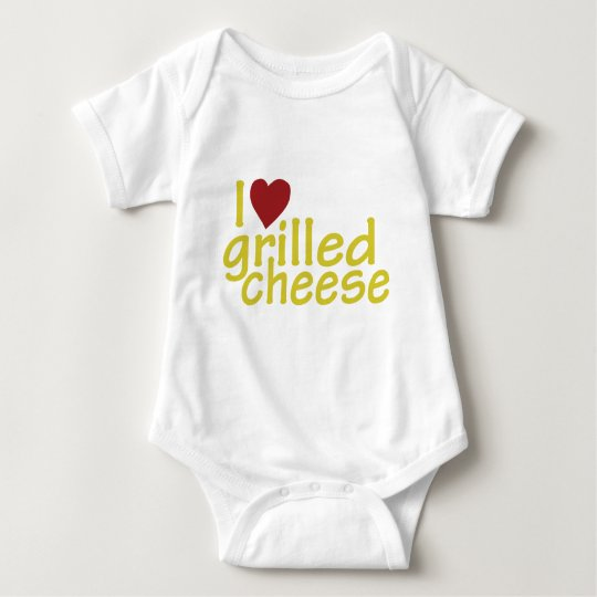 I Love Grilled Cheese Baby Bodysuit