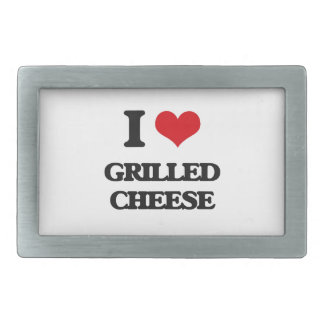 I Love Grilled Cheese Rectangular Belt Buckles