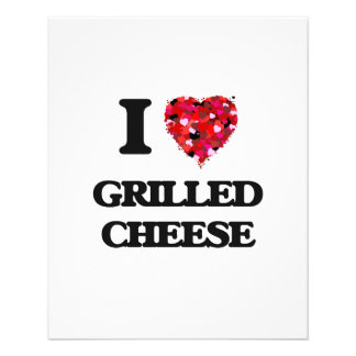 """I Love Grilled Cheese food design 4.5"""" X 5.6"""" Flyer"""