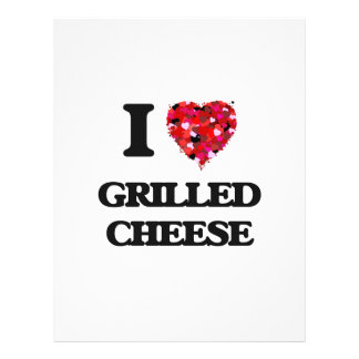 """I Love Grilled Cheese food design 8.5"""" X 11"""" Flyer"""