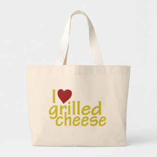 I Love Grilled Cheese Large Tote Bag