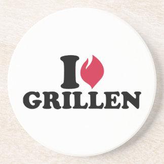 I love Grillen Drink Coaster