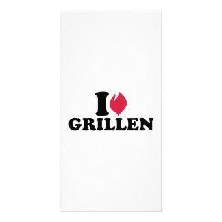 I love Grillen Picture Card