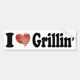 I Love Grillin' Bumper Sticker Car Bumper Sticker