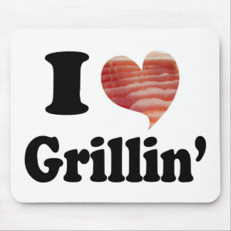 I Love Grillin' Mouse Pads