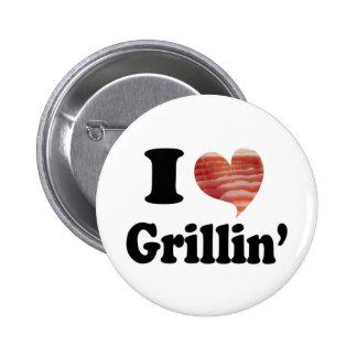I Love Grillin' Pinback Button