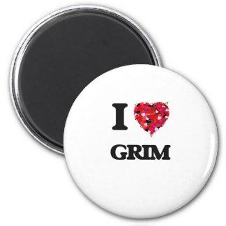 I Love Grim 2 Inch Round Magnet