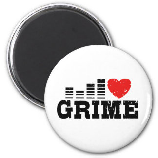 I Love Grime 2 Inch Round Magnet