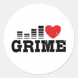 I Love Grime Classic Round Sticker