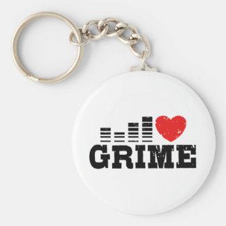 I Love Grime Basic Round Button Keychain
