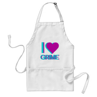 i love grime music adult apron