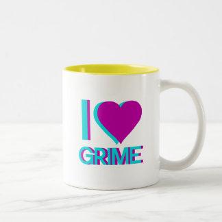 i love grime music Two-Tone coffee mug