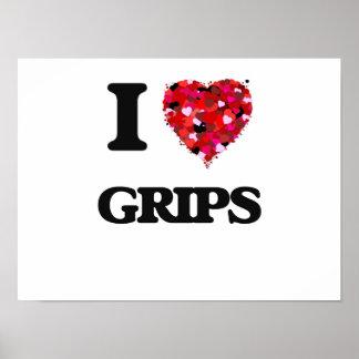 I love Grips Poster