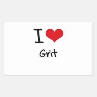 I Love Grit Rectangular Sticker