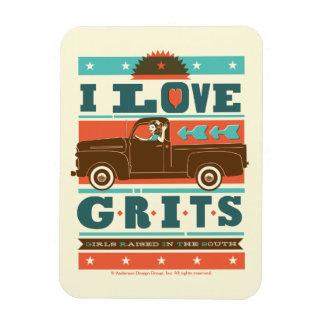 I Love Grits Magnet