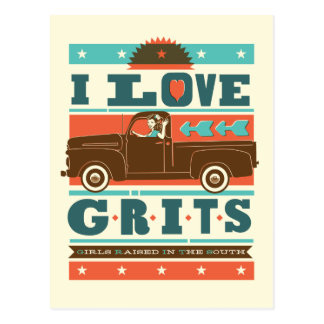 I Love Grits Postcard