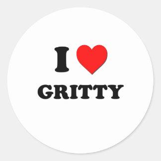 I Love Gritty Round Sticker