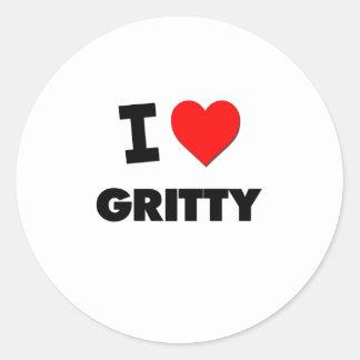 I Love Gritty Sticker