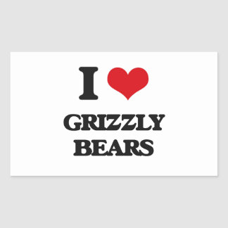 I love Grizzly Bears Stickers