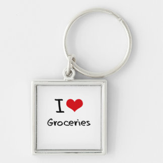 I Love Groceries Key Chains