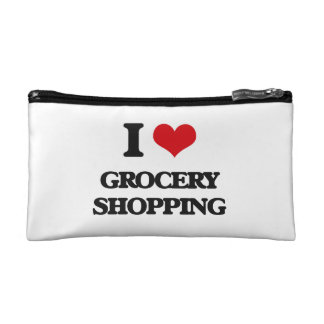 I love Grocery Shopping Cosmetics Bags