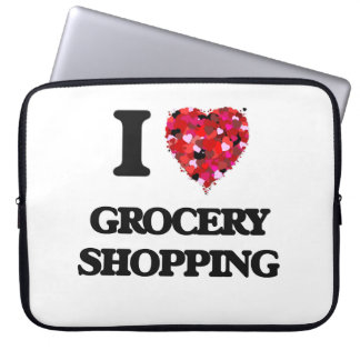 I Love Grocery Shopping Laptop Sleeve