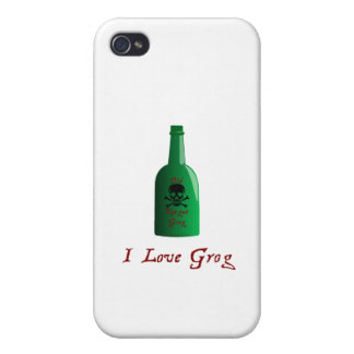I love Grog Cover For iPhone 4