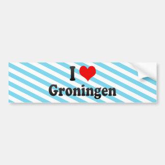 I Love Groningen, Netherlands Bumper Sticker