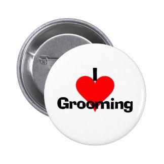 I Love Grooming Pins