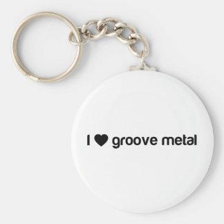 I Love Groove Metal Keychain