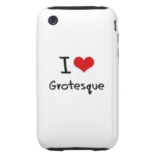 I Love Grotesque Tough iPhone 3 Cover