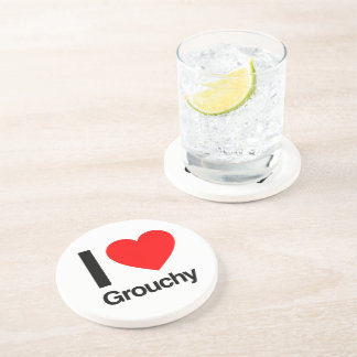 i love grouchy drink coasters