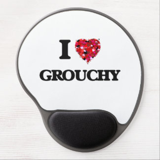 I Love Grouchy Gel Mouse Pad