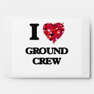 I Love Ground Crew Envelope