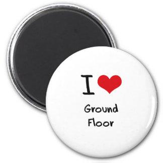 I Love Ground Floor Refrigerator Magnets