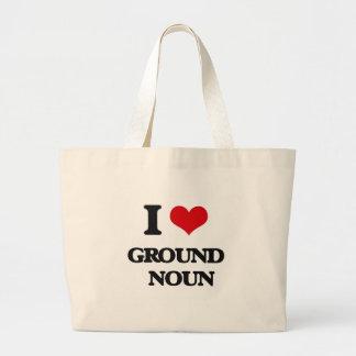 I love Ground   Noun Tote Bag