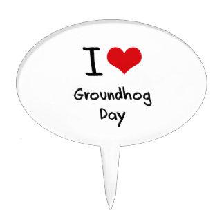 I Love Groundhog Day Cake Topper