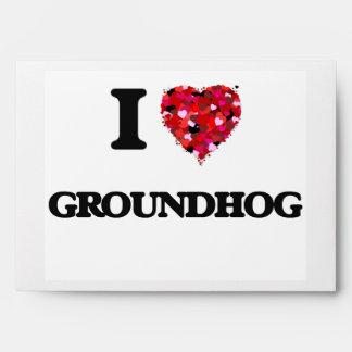I Love Groundhog Envelopes