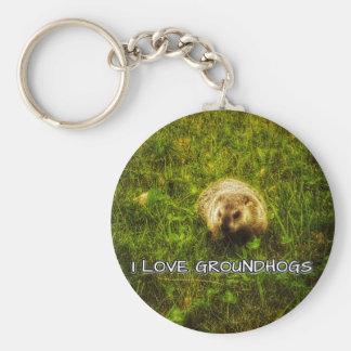 I love groundhogs keychain