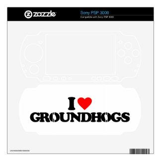 I LOVE GROUNDHOGS SONY PSP 3000 SKINS