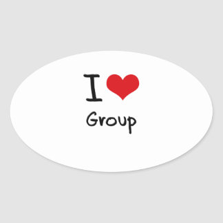 I Love Group Sticker
